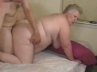 Two mature granny takes big cock