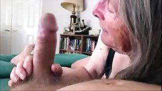 72 Year old Granny Sucks and..