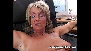 Blonde Mature Office Boss..