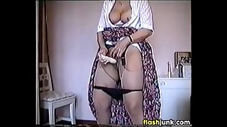 Grandma Masturbating With A..