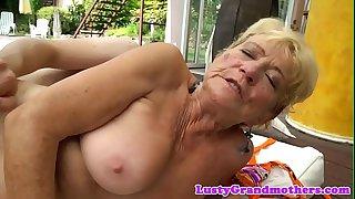 Saggy european grandma..