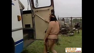 Hairy native American mature..