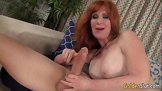 Redheaded grandma Freya..