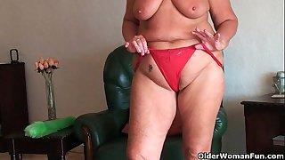 Chubby granny with saggy big..