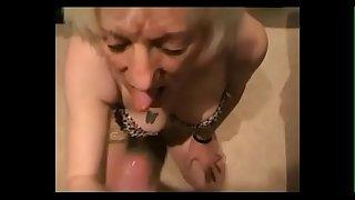 Hot grandma sucking dick and..