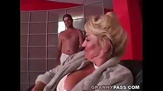 Busty Grandma is getting her..