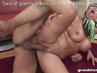 Old but oddly fit granny..