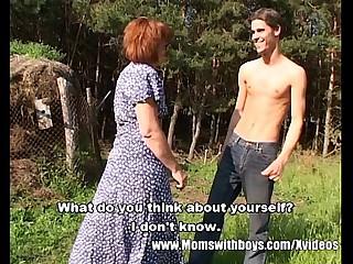 Skinny Farm Boy Outdoor Sex..