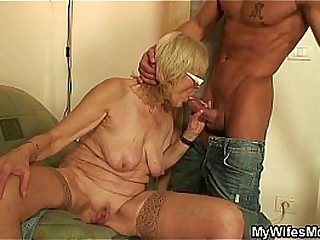 Granny and black dude fucking