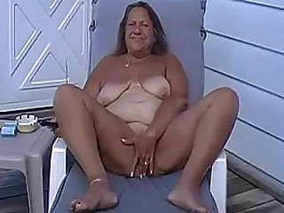 Tan BBW Granny Masturbate..