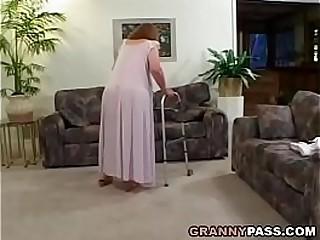 Redhead Granny Proves Her..