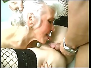 Redhead and blonde granny..