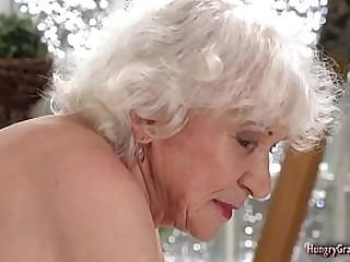Fucking a horny granny