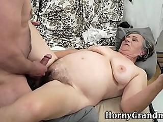 Hairy pussy granny banged