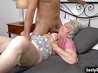 Hot male helper bangs with..