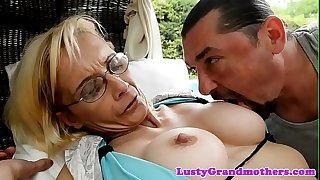 Spex granny loves getting..