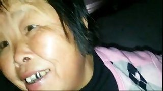 Old Asian Granny Caught..