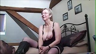 Breasted grandma anal fucked..