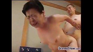 Japanese Grandma Giving A..
